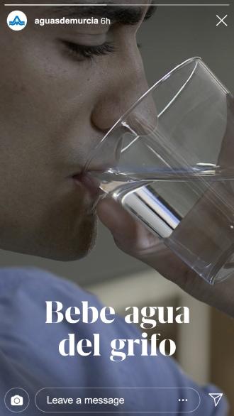 Instagram Bebe agua del grifo Aguas de Murcia
